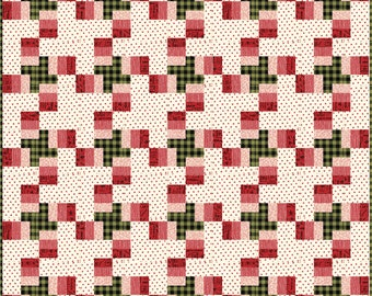 Plaid Tidings Quilt Pattern- Download