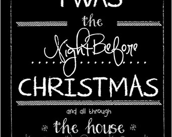 Twas The Night Before Christmas Label