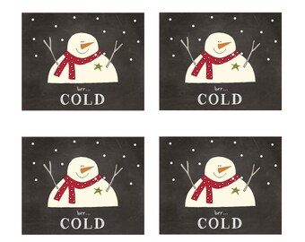 Mini Snowmen Labels