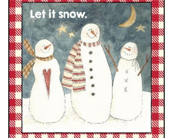 Let It Snow Label
