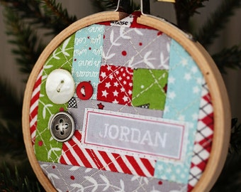 Christmas Hoop Place Card/Ornament Pattern