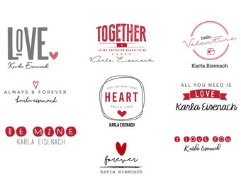 Valentine Love Labels (Customizable) - NEW!