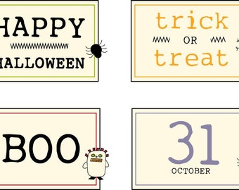 Halloween Mug Mat Labels