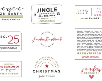 Oh Holy Night Christmas Labels (Customizable) - NEW!
