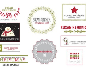 Christmas Personalized Iron On Labels