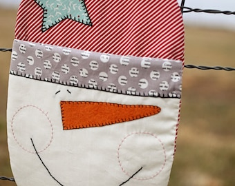 Snowman Hot Mitt Pattern