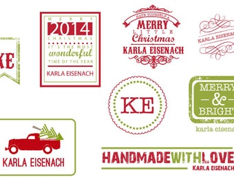 Christmas Personalized Iron On Labels #2