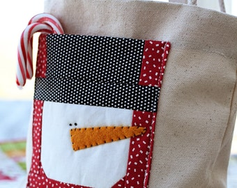 Snowman Gift Bag  - Download Pattern