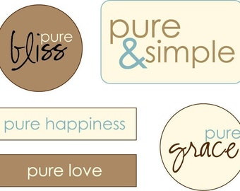 Pure Phrases Little Labels