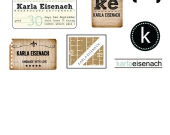 Elementary Personalized Iron On Labels