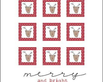 Merry Reindeer Iron On Label