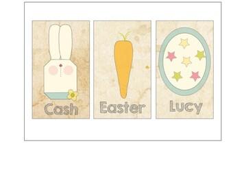 Custom Easter Tag Labels