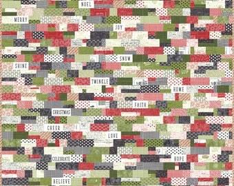 Cobblestone Christmas Quilt Pattern- Download