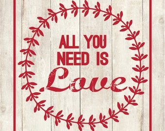 All You Need Is Love Label