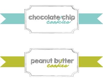 Cookie Jar Iron On Label