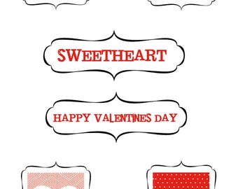 Valentine Treats - Label Only