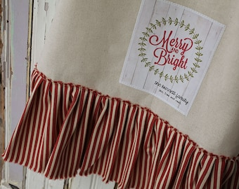 Merry And Bright Ruffled Towel- Download Pattern