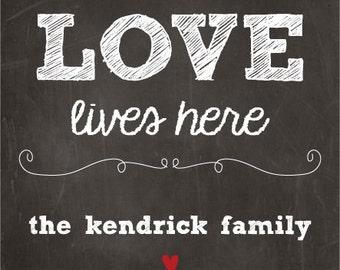 Love Lives Here Custom Label