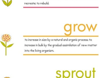 Spring Iron On Labels -