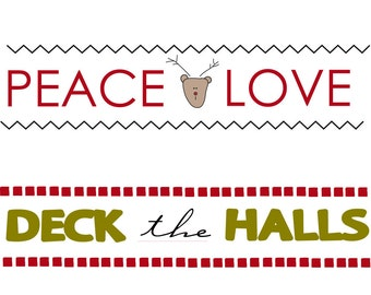 Christmas Bunting - Labels Only