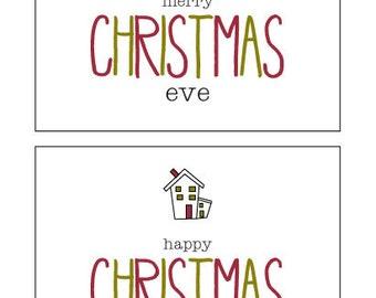 Christmas Eve, Christmas Morning Labels