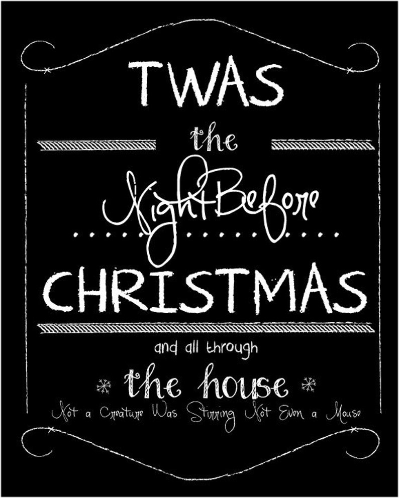 Twas The Night Before Christmas Label image 0