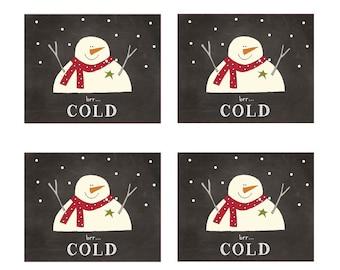Mini Snowmen Labels