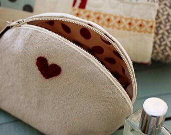 Valentine Zippered Pouch- Download  Pattern