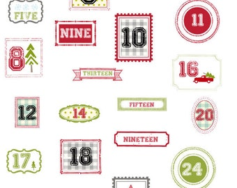 Countdown to Christmas Iron On Labels