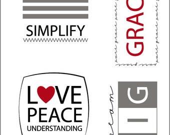 Simplify Iron On Label