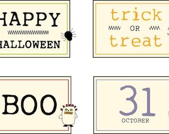 Halloween Mug Mat Labels