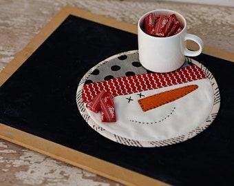 Snowman Mug Mat- Download Pattern
