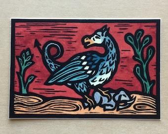 """Shantak-bird 3 x 2 """" Bestiary sticker indoor/outdoor vinyl"""