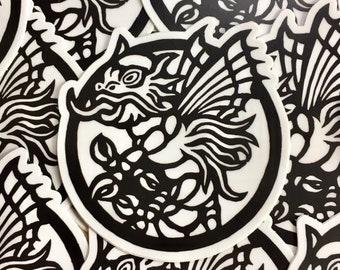 """Demon 3"""" sticker indoor/outdoor vinyl"""