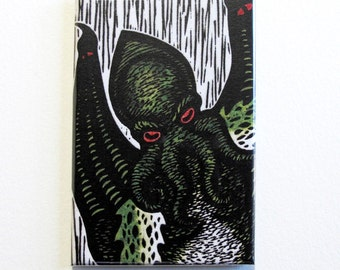 Cthulandia H.P. Lovecraft Cthulhu art magnet 2 x 3 inches
