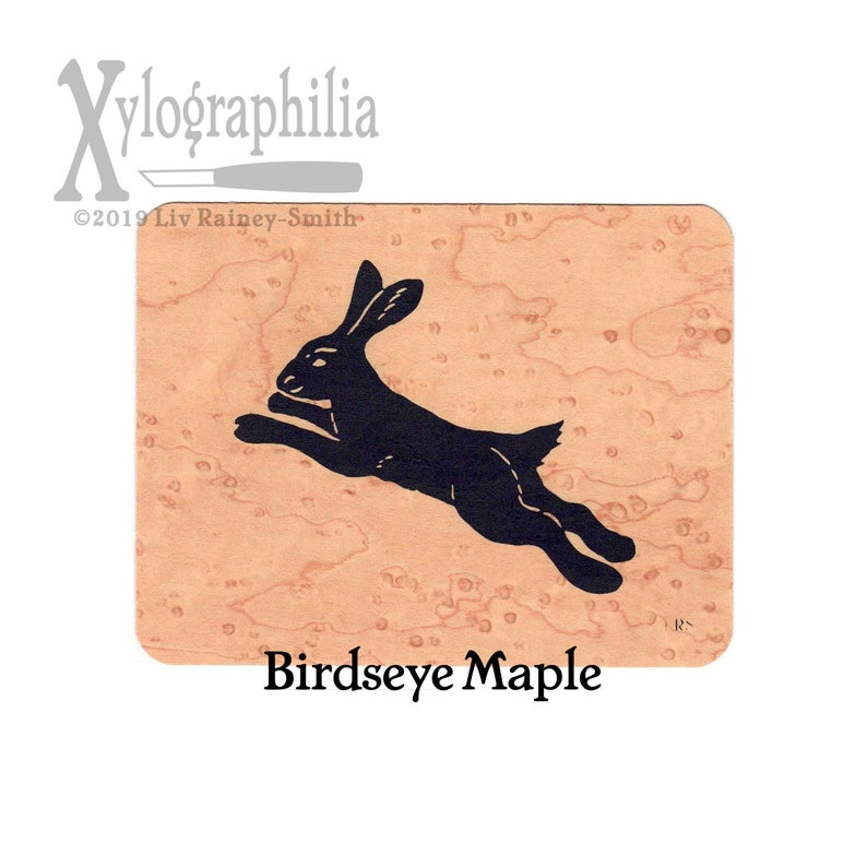 Leaping Hare wood greeting card image 0