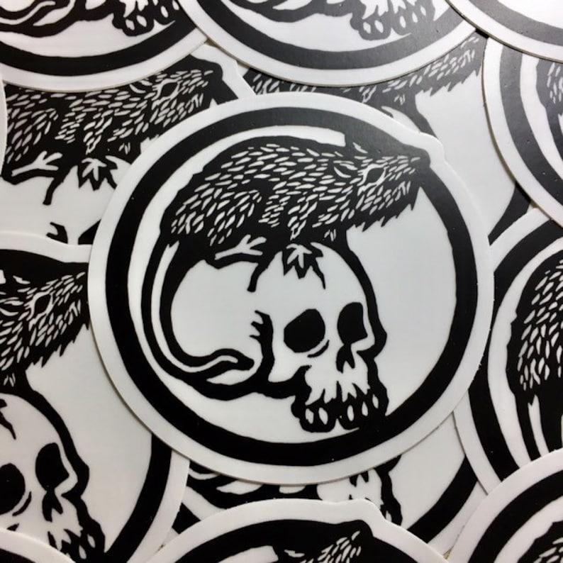 Rat and skull 3 sticker indoor/outdoor vinyl image 0