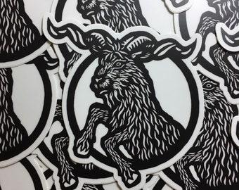 """Rampant Goat 4"""" sticker indoor/outdoor vinyl"""