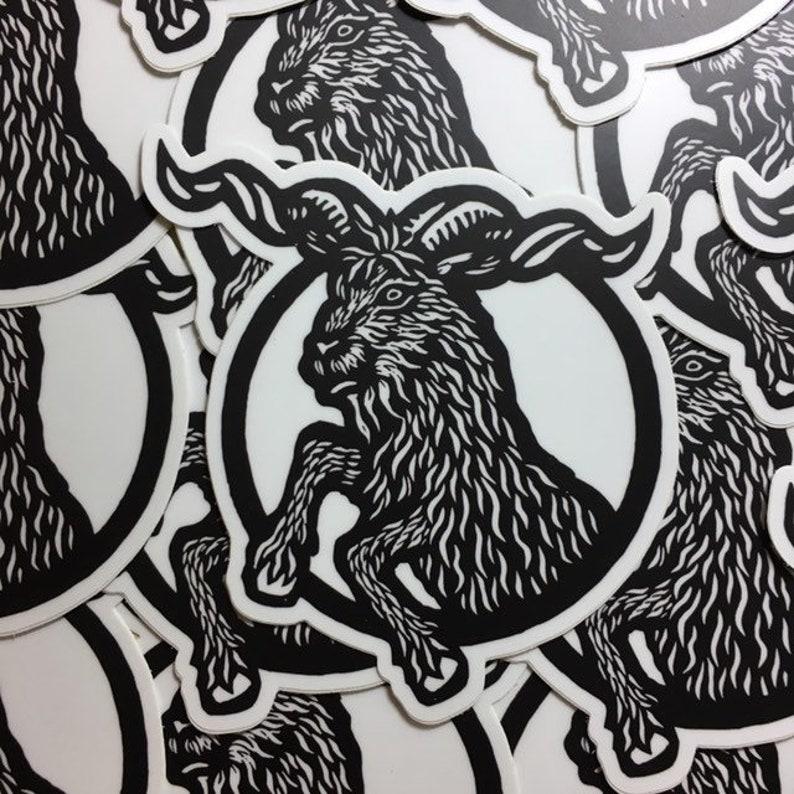 Rampant Goat 4 sticker indoor/outdoor vinyl image 0