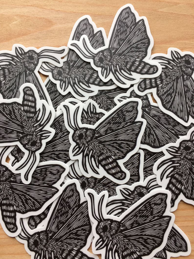 Moth sticker indoor/outdoor vinyl image 0