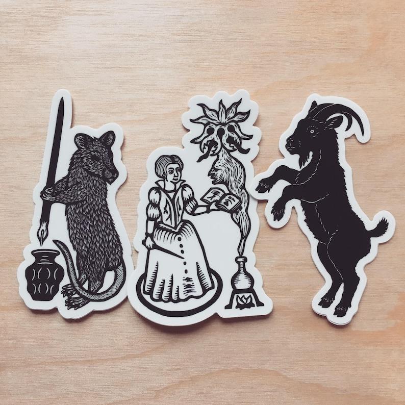 Witchcraft sticker pack of 3 indoor/outdoor vinyl image 0