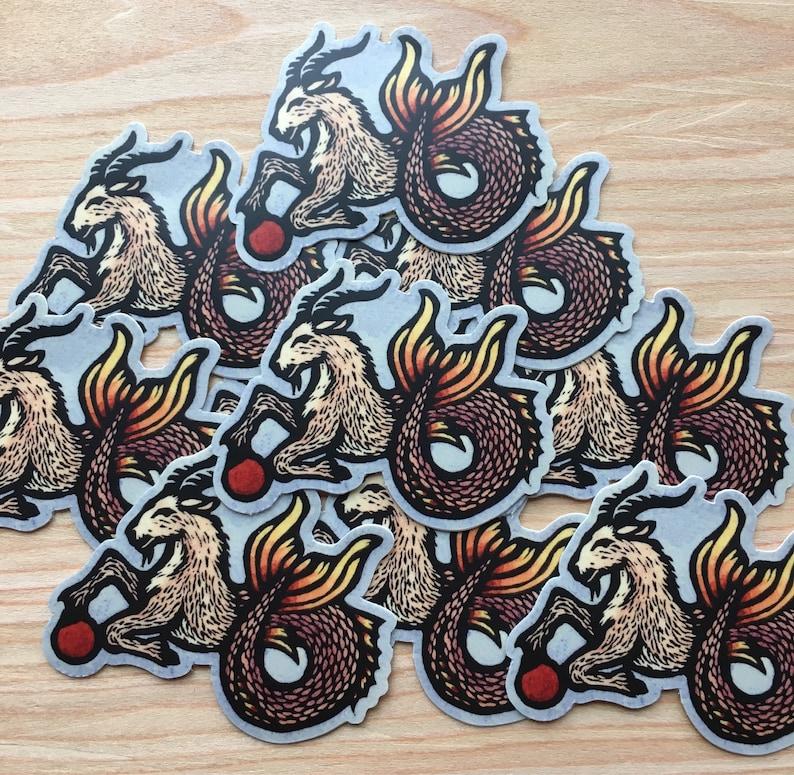 Capricorn Goat sticker indoor/outdoor vinyl color image 0