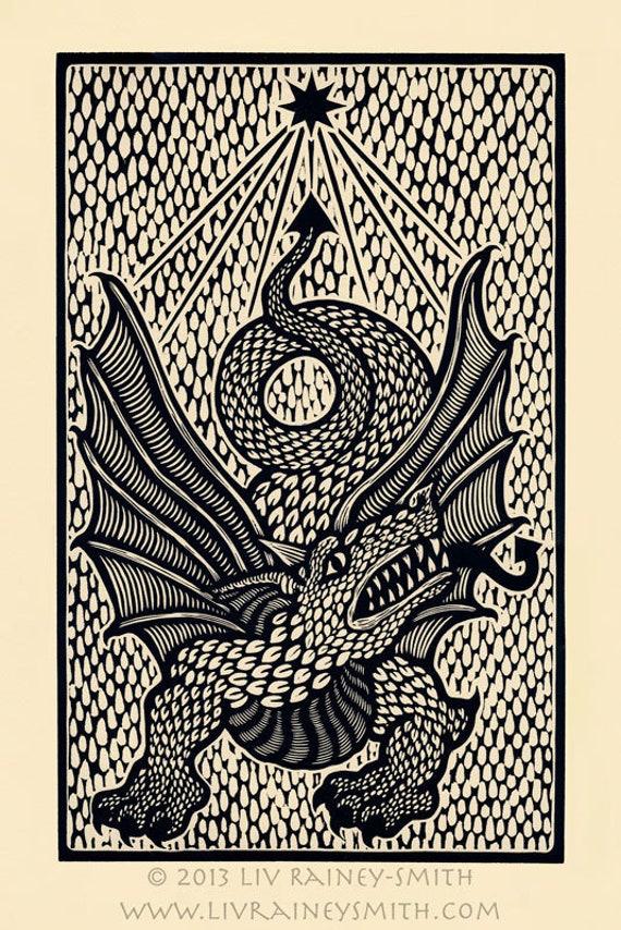Bear woodcut limited edition Arcanum Bestiarum bestiary print