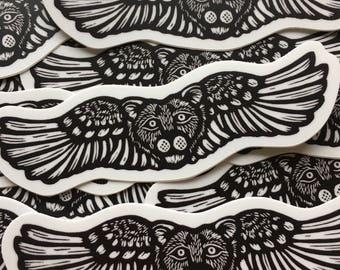 Winged Lioness sticker indoor/outdoor vinyl