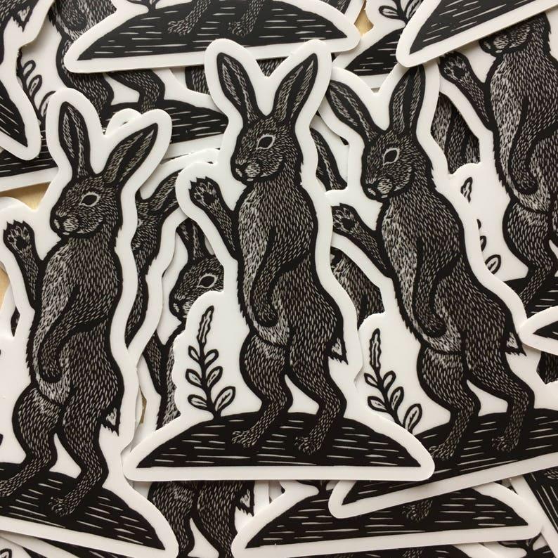 Rabbit Hare sticker indoor/outdoor vinyl image 0