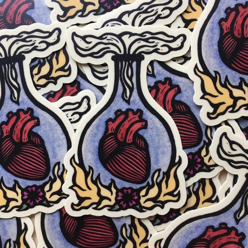 Ardor passionate heart sticker indoor/outdoor vinyl color image 0