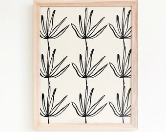 Agave | Framed Textile 11x14 - framed textile - wall art - screen print - hand drawn - gallery wall - home decor - living room