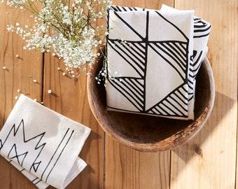 Shadow Block | Organic Cotton Tea Towel - flour sack towel - soft absorbent dish towel - home decor - decor - home goods - housewares