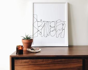 Desert Dreams | 16 x 20 Screen Print (unframed)  wall art - screen print - hand drawn - gallery wall - home decor - living room