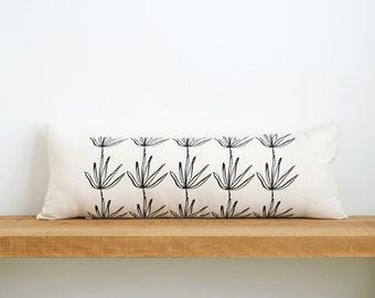 "Agave | Organic Cotton Lumbar Pillow 13"" x 35"" | eco friendly housewares - decorative - interior design - home staging - home decor"